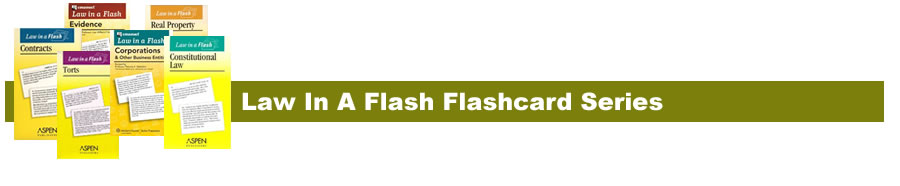 Law In A Flash flashcard information